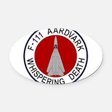 F-111 Aardvark - Whispering Death Oval Car Magnet