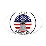 F-111 Aardvark Oval Car Magnet