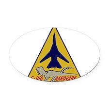 F-111G Aardvark Oval Car Magnet
