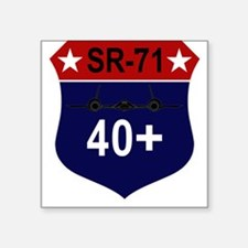 "SR-71 - 40+.PNG Square Sticker 3"" x 3"""