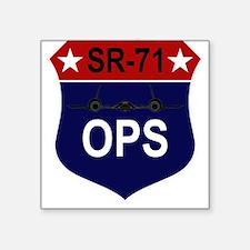 """SR-71 Square Sticker 3"""" x 3"""""""