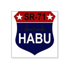 "SR-71 - HABU.PNG Square Sticker 3"" x 3"""