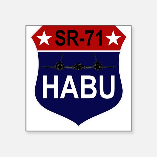 "SR-71 - HABU.PNG Square Sticker 3"" x 3"""