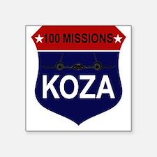 """SR-71 - 100 Missions -KOZA.PNG Square Sticker 3"""" x"""