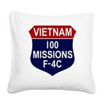 F-4C Phantom II Square Canvas Pillow