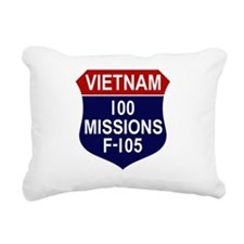 100 MISSIONS - F-105.PNG Rectangular Canvas Pillow