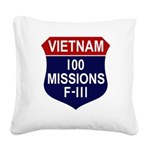 100 Missions - F-111 Square Canvas Pillow