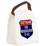 100 Missions - F-111 Canvas Lunch Bag