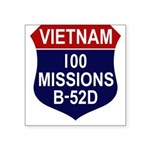 100 MISSIONS - B-52D.PNG Square Sticker 3