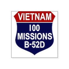 "100 MISSIONS - B-52D.PNG Square Sticker 3"" x 3"""