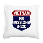100 MISSIONS - B-52D.PNG Square Canvas Pillow