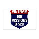 100 MISSIONS - B-52D.PNG Rectangle Car Magnet