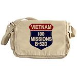 100 MISSIONS - B-52D.PNG Messenger Bag