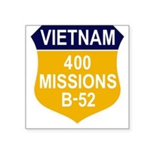 "400 MISSIONS - B-52.PNG Square Sticker 3"" x 3"""