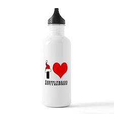 I Love Shuffleboard Water Bottle