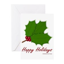 Happy Holidays Holly Greeting Cards (Pk of 10)
