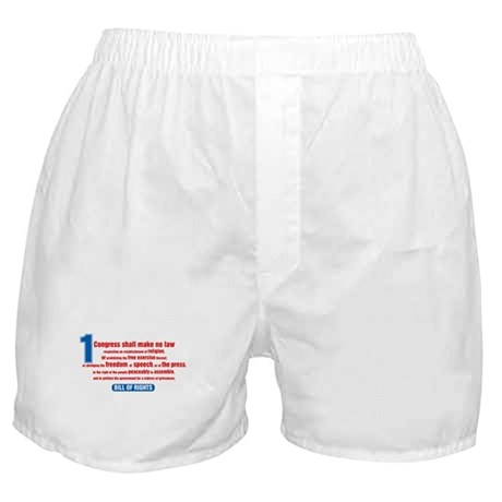 1st Amendment Boxer Shorts