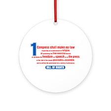 1st Amendment Ornament (Round)