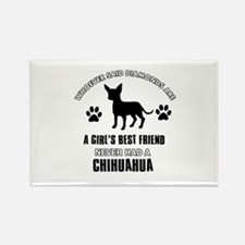 Chihuahua Mommy designs Rectangle Magnet