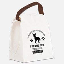 Chihuahua Mommy designs Canvas Lunch Bag