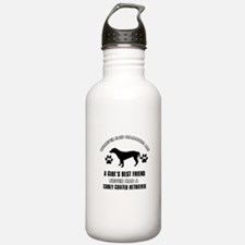 curly Coated Retriever Mommy designs Water Bottle