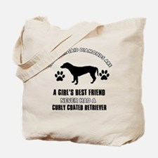 curly Coated Retriever Mommy designs Tote Bag