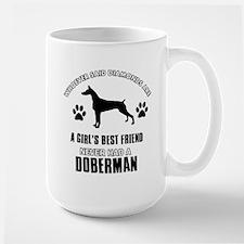 Doberman Mommy designs Large Mug