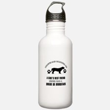 Dogue De Bordeaux Mommy designs Sports Water Bottle