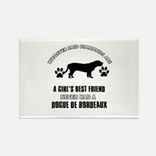 Dogue De Bordeaux Mommy designs Rectangle Magnet (