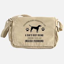 English Foxhound Mommy designs Messenger Bag