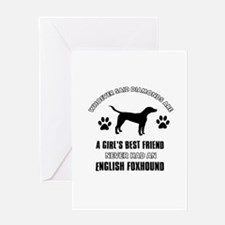 English Foxhound Mommy designs Greeting Card