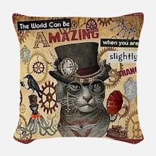 Slightly Strange Woven Throw Pillow