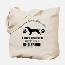 Field Spaniel Mommy designs Tote Bag