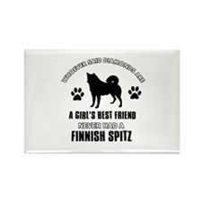 Finnish Spitz Mommy designs Rectangle Magnet (100