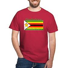 Zimbabwe Zimbabwean Flag Red T-Shirt