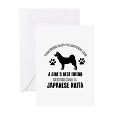 Japanese Akita Mommy designs Greeting Card