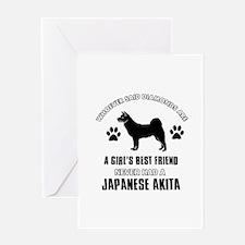 Japanese Akita Mommy designs Greeting Card
