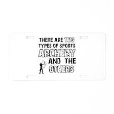 Cool Archery designs Aluminum License Plate