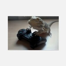 Gaming Bearded Dragon Rectangle Magnet