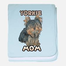 Yorkshire Terrier Mom baby blanket