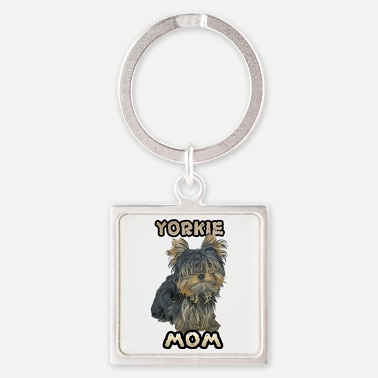 Yorkshire Terrier Mom Square Keychain