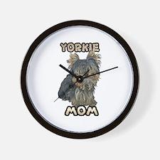 Yorkshire Terrier Mom Wall Clock