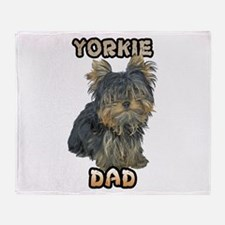 Yorkshire Terrier Dad Throw Blanket