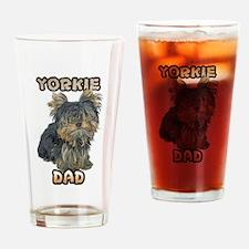 Yorkshire Terrier Dad Drinking Glass
