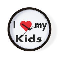 I love my Kids. Wall Clock