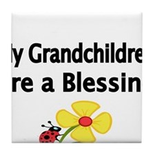My Grandchildren are a Blessing Tile Coaster