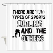 Curling designs Shower Curtain