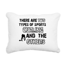 Curling designs Rectangular Canvas Pillow