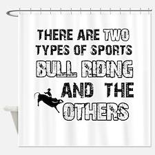 Bull Riding designs Shower Curtain