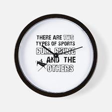Bull Riding designs Wall Clock